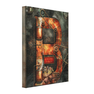 Steampunk - Alphabet - B is for Belts Gallery Wrapped Canvas