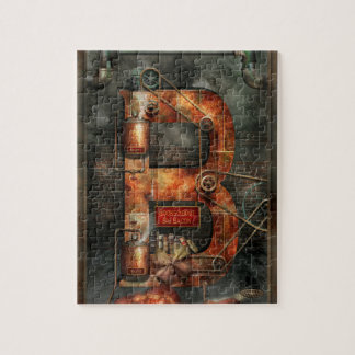 Steampunk - Alphabet - B is for Belts Jigsaw Puzzle