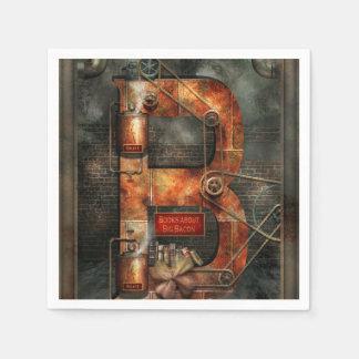 Steampunk - Alphabet - B is for Belts Paper Napkin