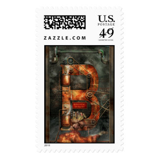 Steampunk - Alphabet - B is for Belts Postage Stamps