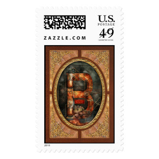 Steampunk - Alphabet - B is for Belts Postage Stamp