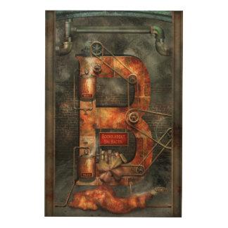 Steampunk - Alphabet - B is for Belts Wood Prints