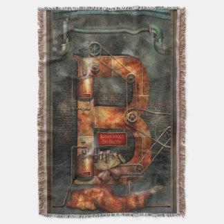 Steampunk - Alphabet - B is for Belts Throw Blanket
