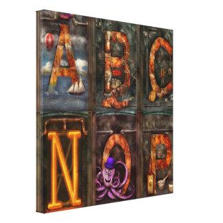 Steampunk - Alphabet - Complete Alphabet Canvas Prints
