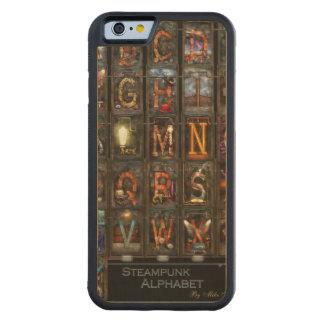 Steampunk - Alphabet - Complete Alphabet Carved® Maple iPhone 6 Bumper Case