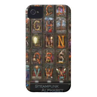 Steampunk - Alphabet - Complete Alphabet Case-Mate iPhone 4 Case