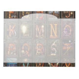 Steampunk - Alphabet - Complete Alphabet Scratch Pad