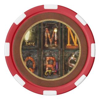 Steampunk - Alphabet - Complete Alphabet Poker Chip Set