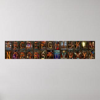 Steampunk - Alphabet - Complete Alphabet Print