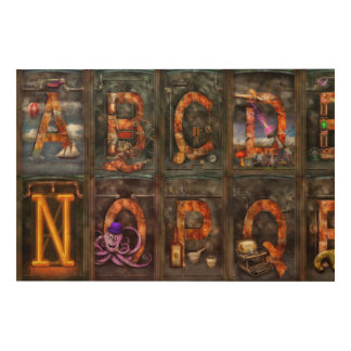 Steampunk - Alphabet - Complete Alphabet Wood Canvases