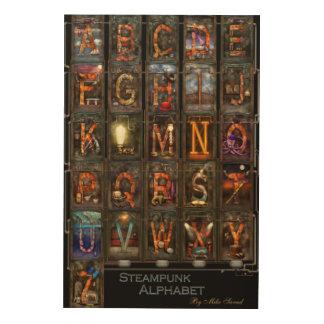 Steampunk - Alphabet - Complete Alphabet Wood Print