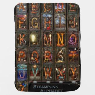 Steampunk - Alphabet - Complete Alphabet Receiving Blanket