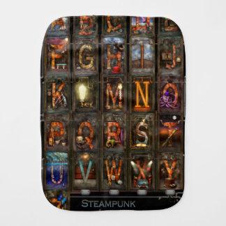 Steampunk - Alphabet - Complete Alphabet Baby Burp Cloth