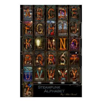 Steampunk - Alphabet - Complete Alphabet Perfect Poster