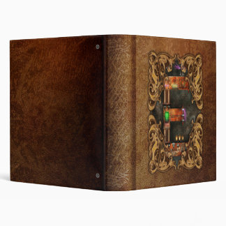 Steampunk - Alphabet - E is for Electricty Vinyl Binders