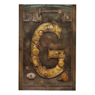 Steampunk - Alphabet - G is for Gears Wood Canvases