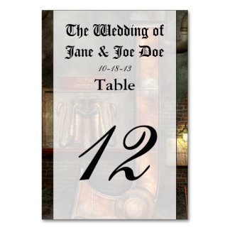 Steampunk - Alphabet - J is for Jet Pack Table Cards