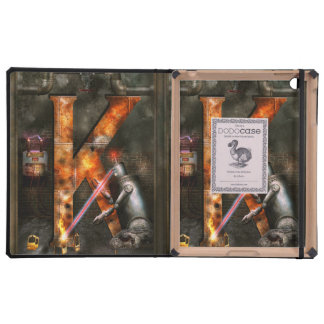 Steampunk - Alphabet - K is for Killer Robots iPad Covers