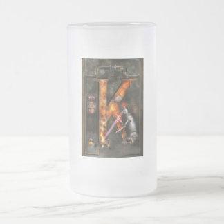 Steampunk - Alphabet - K is for Killer Robots Frosted Glass Beer Mug