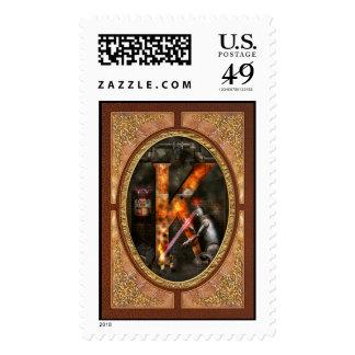 Steampunk - Alphabet - K is for Killer Robots Stamp