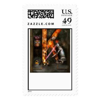 Steampunk - Alphabet - K is for Killer Robots Postage