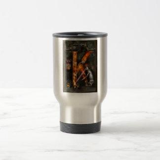 Steampunk - Alphabet - K is for Killer Robots Travel Mug