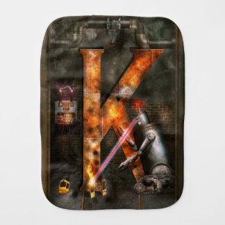 Steampunk - Alphabet - K is for Killer Robots Burp Cloths