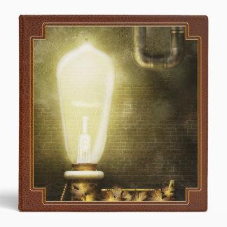Steampunk - Alphabet - L is for Light Bulb Binders