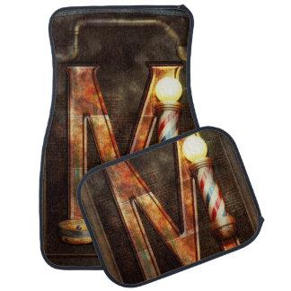 Steampunk - Alphabet - M is for Mustache Car Floor Mat