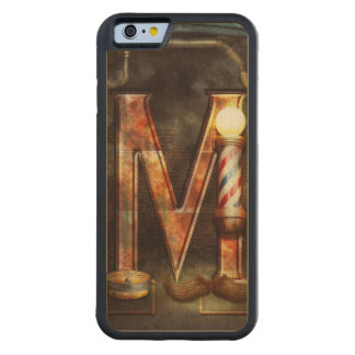 Steampunk - Alphabet - M is for Mustache Carved Maple iPhone 6 Bumper Case