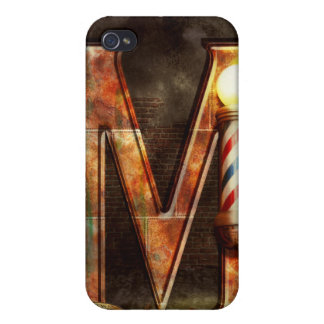 Steampunk - Alphabet - M is for Mustache Case For iPhone 4