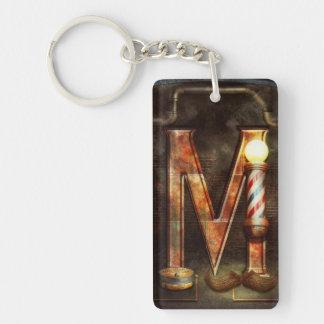 Steampunk - Alphabet - M is for Mustache Keychain