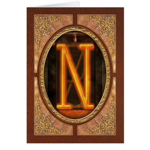 Steampunk - Alphabet - N is for Nixie Card
