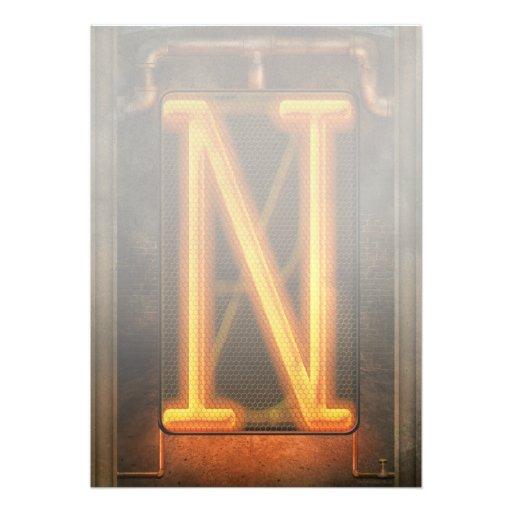 Steampunk - Alphabet - N is for Nixie Custom Announcements