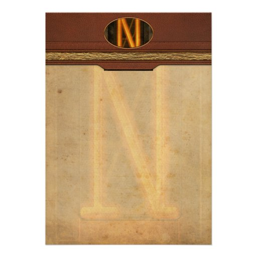 Steampunk - Alphabet - N is for Nixie Invitations