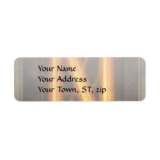 Steampunk - Alphabet - N is for Nixie Custom Return Address Label