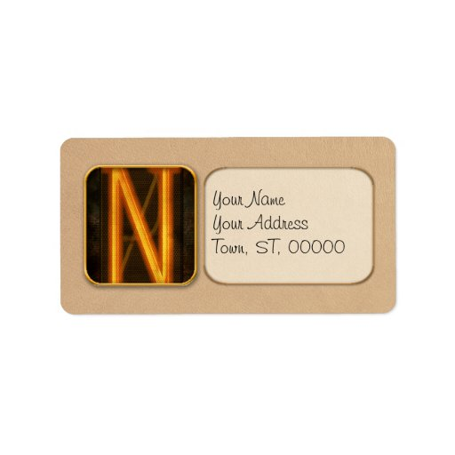 Steampunk - Alphabet - N is for Nixie Personalized Address Labels