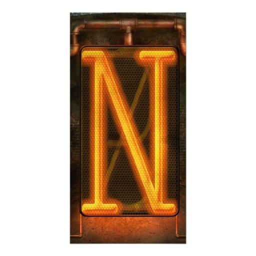 Steampunk - Alphabet - N is for Nixie Customized Photo Card