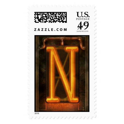Steampunk - Alphabet - N is for Nixie Postage
