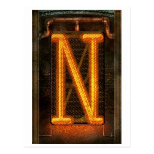 Steampunk - Alphabet - N is for Nixie Post Card
