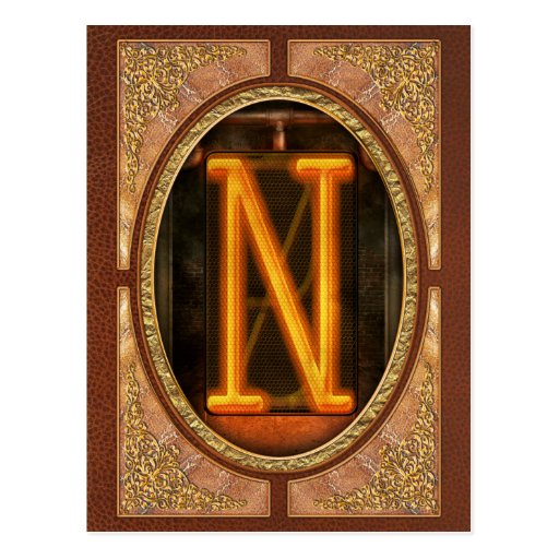 Steampunk - Alphabet - N is for Nixie Postcards