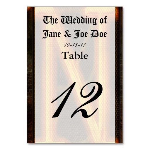Steampunk - Alphabet - N is for Nixie Table Cards