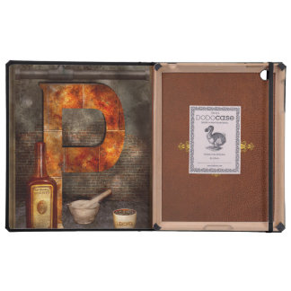 Steampunk - Alphabet - P is for Pharmacy iPad Cover