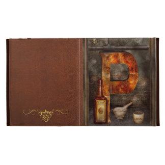 Steampunk - Alphabet - P is for Pharmacy iPad Folio Case
