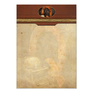 Steampunk - Alphabet - Q is for Qwerty Card