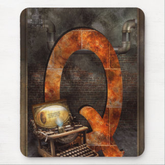 Steampunk - Alphabet - Q is for Qwerty Mouse Pad