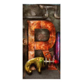 Steampunk - Alphabet - R is for Ray Gun Photo Greeting Card