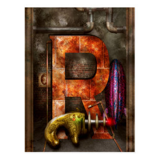 Steampunk - Alphabet - R is for Ray Gun Post Card