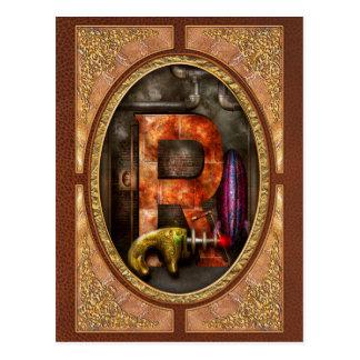Steampunk - Alphabet - R is for Ray Gun Postcards