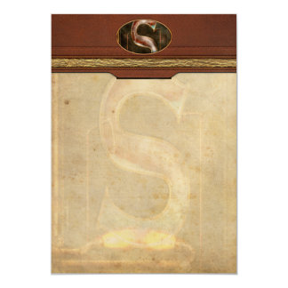 Steampunk - Alphabet - S is for Steam 5x7 Paper Invitation Card